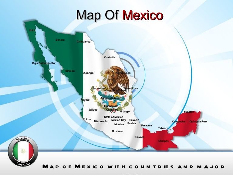 Mexico Map Powerpoint Ppt Templates Interactive Mexico Maps For