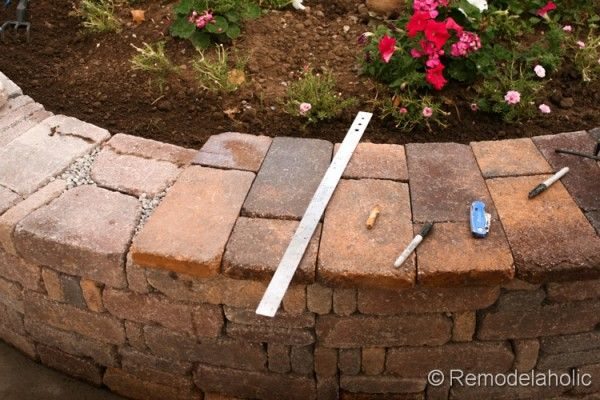 Diy Rumblestone Seat Wall And Fire Pit Kit Installation Fire Pit Kit Wall Seating Fire Pit
