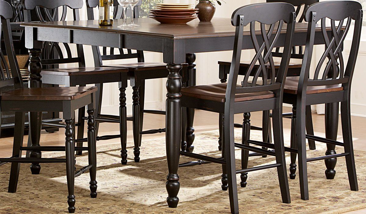 Homelegance Ohana Country Wood Counter Dining Table Pub Set