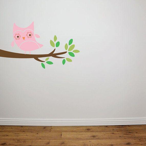 Owl Branch Bird Stencil Reusable By Cutestencils On Etsy