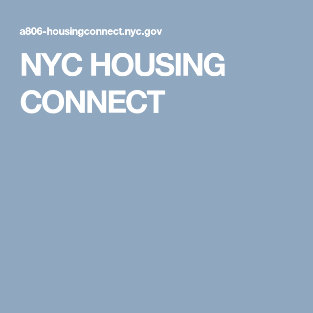 Nyc Housing Connect Nyc Connection House