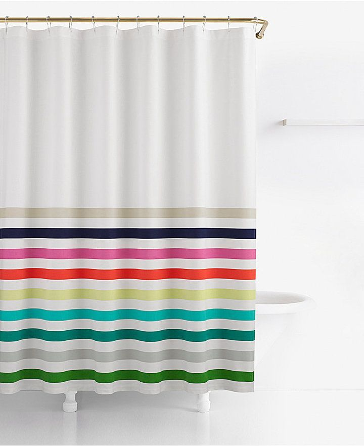 Kate Spade Candy Stripe Cotton 72 X Shower Curtain Bedding