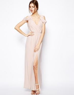 Blush Maxi Bridesmaids Dress