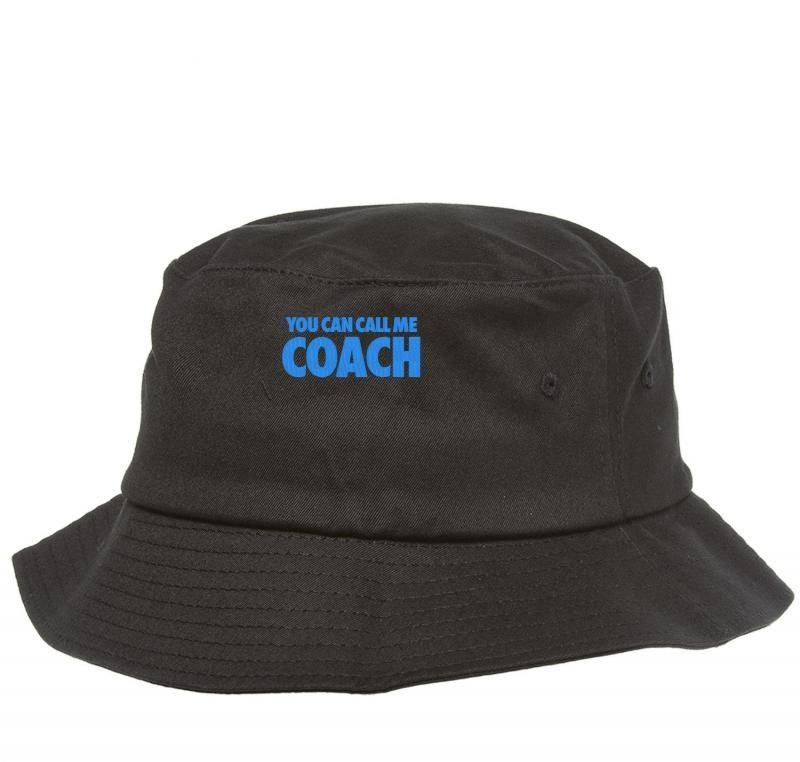 34f18fbf122b0 YOU CAN CALL ME COACH embroidery Bucket Hat