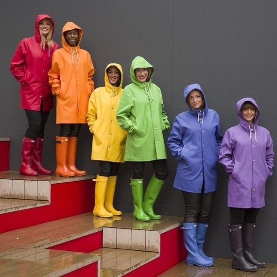 """amazing selection timeless design largest selection of shinymack: """"Rainbow """"   dressing up in rubber rain gear to ..."""