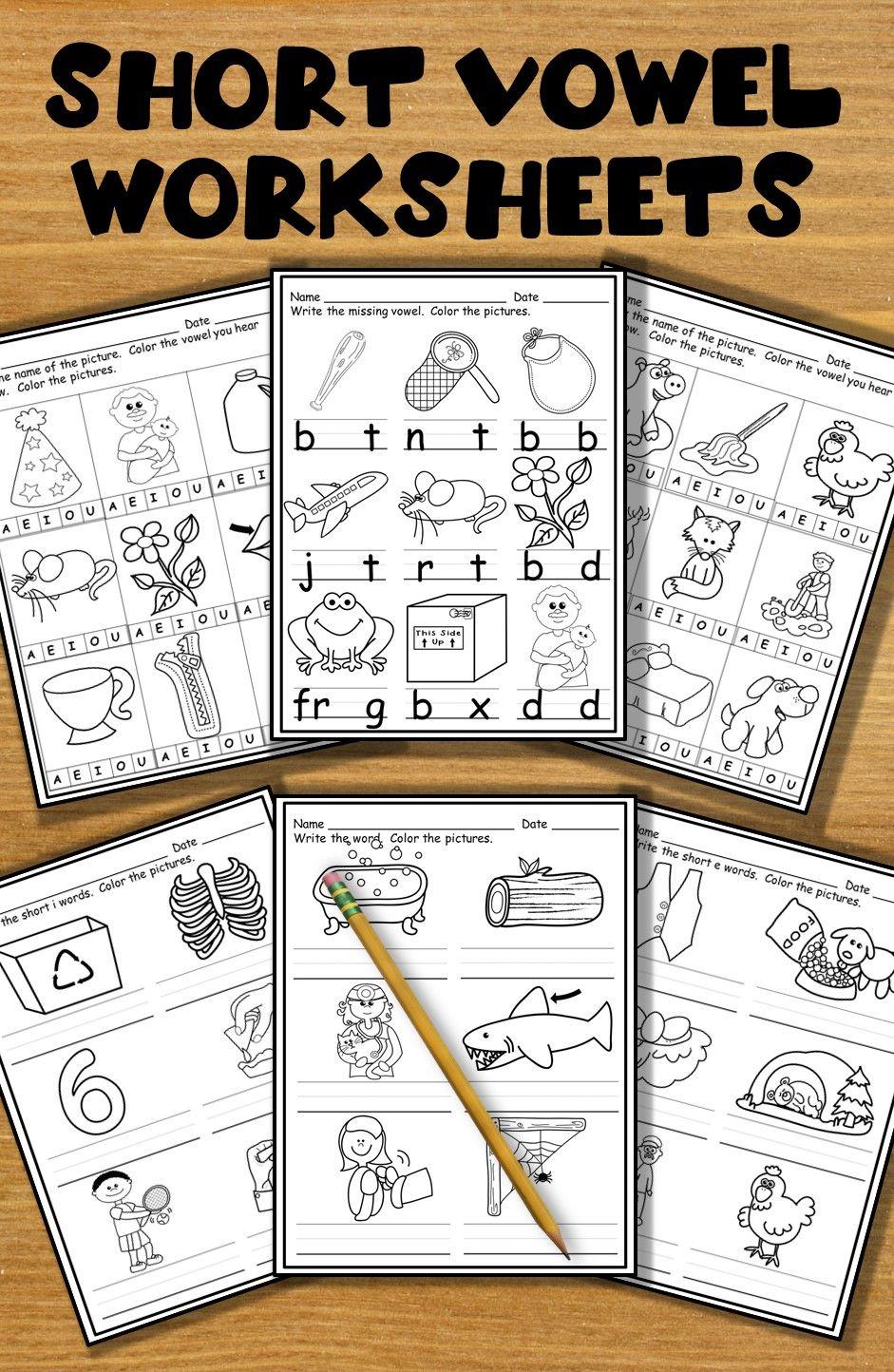 Print And Go Worksheets For Practicing Short Vowels Kindergarten Phonics Worksheets Phonics Kindergarten Homeschool Phonics [ 1444 x 941 Pixel ]