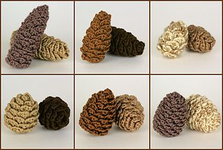Pine Cone Collection  by June Gilbank - $5.50 Crochet Pattern