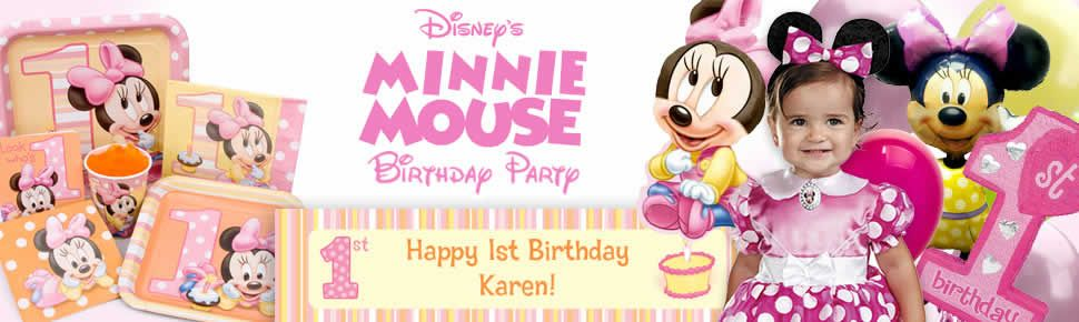 Minnie 1st birthday party supplies decorations and invitations low minnie 1st birthday party supplies decorations and invitations low prices filmwisefo Choice Image