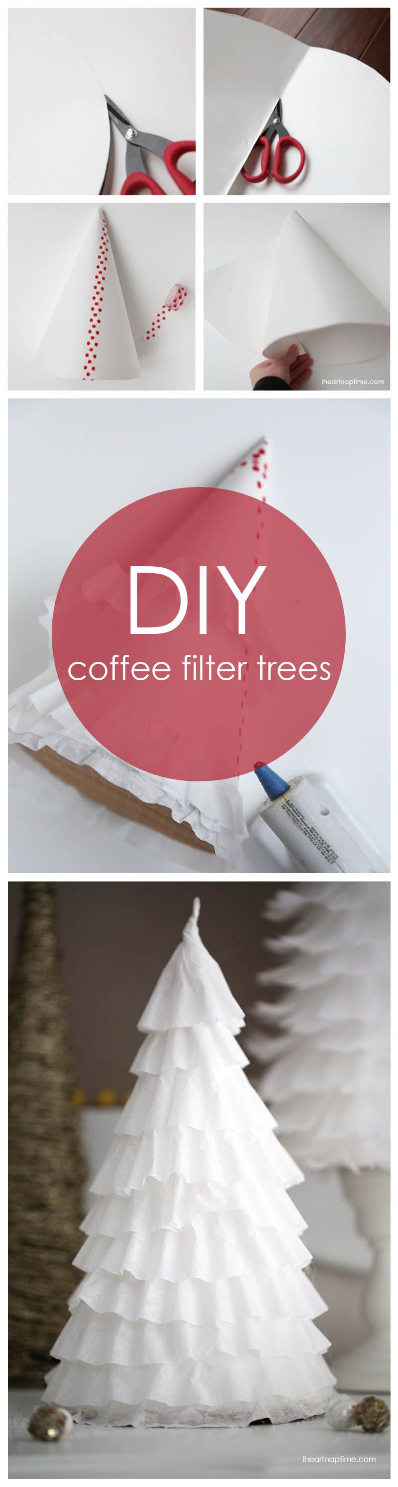 DIY 1 coffee filter trees Christmas diy, Christmas