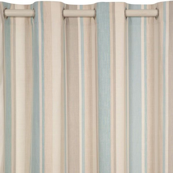 Laura Ashley: Awning Stripe Eyelet Ready Made Curtains | Colored Curtains | Luxury Curtains Sets | Windows Covers