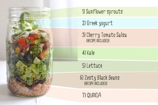 Superfood Salad Mason Jar Lunch