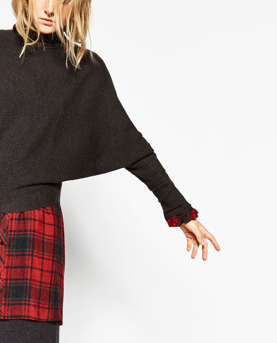 f8557bea Image 6 of BATWING SLEEVE SWEATER from Zara Zara, Dark Autumn, Pullover,  Fashion