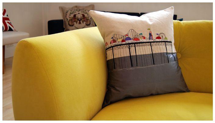 Pier cushion - Lara Sparks   Home decor, Cushions, Free ...