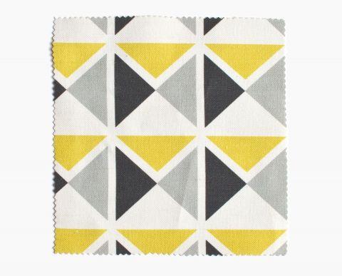 tissu vintage 1930 jaune gris noir z geometrique. Black Bedroom Furniture Sets. Home Design Ideas
