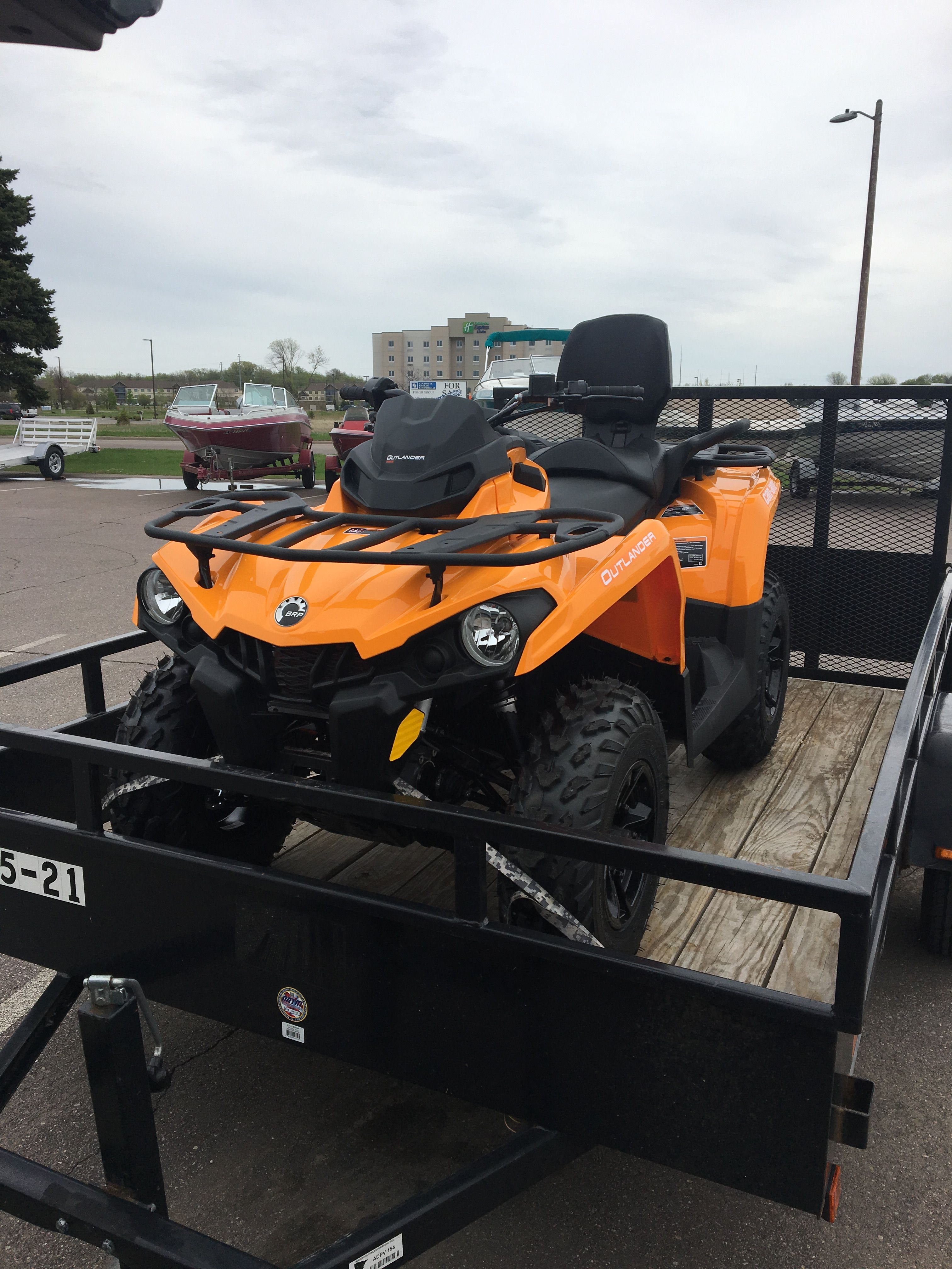 2018 Can Am Outlander Max 450 DPS. Our newest member!!