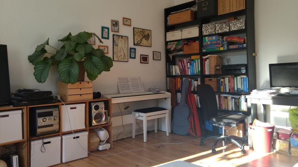 Wohnzimmer mit einer kleinen Ecke für Musik! #Wohnzimmer - moderne bilder fürs wohnzimmer