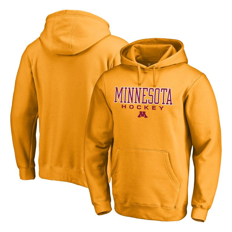 b8c5c154 Minnesota Golden Gophers Fanatics Branded True Sport Hockey Pullover Hoodie  - Gold