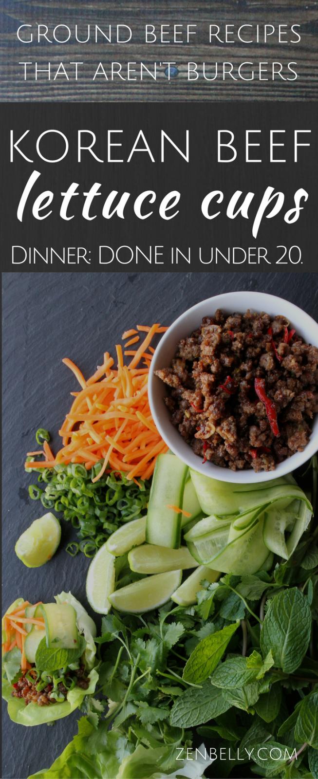 Korean Beef Lettuce Cups Recipe Korean Beef Ground Beef Recipes Lettuce Wrap Recipes