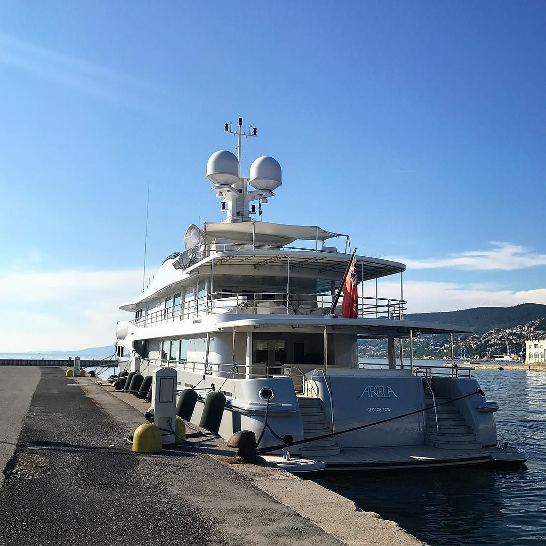Just Walked Past Amels Holland Ariela On The Marina In Sunny Trieste Superyacht With Images Super Yachts Walk Past Yacht