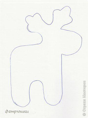 Схема оленя для фетра