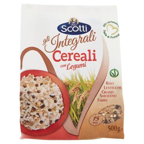 riso scotti - gli integrali - cereali con legumi - oasi