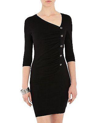 UK 16 (Manufacturer Size: X-Large), Black, Morgan Women's Rupi.M Body Con Plain