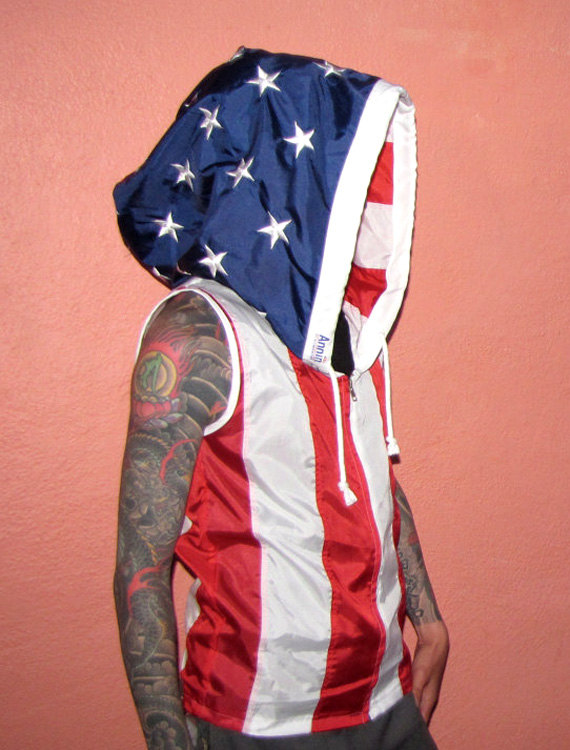 Embroidered American Flag Clothing Pull Over Mens Hoodie Etsy In 2020 American Flag Clothes American Flag Hoodie Hoodies Men