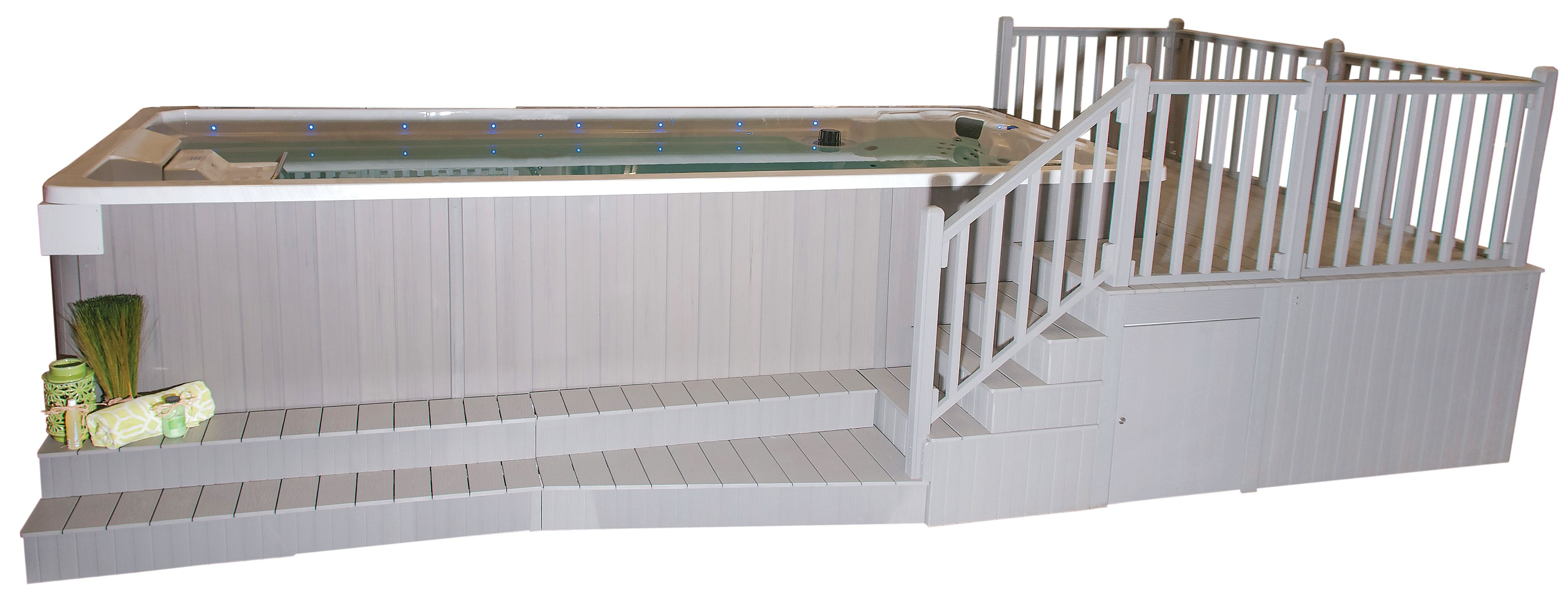 Beau Swim Spa With Steps, Stairs, And Deck