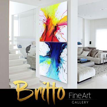 Quadros Abstratos Decorativos 200cm x 100cm QB152