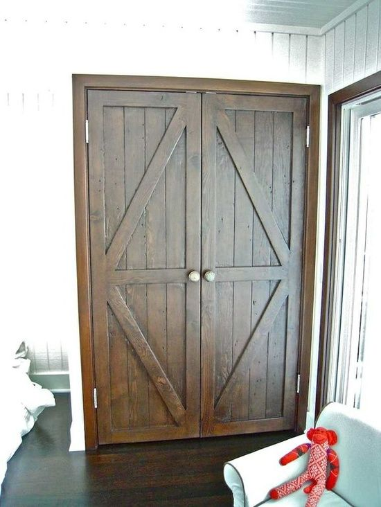 Custom Reclaimed Wood Bi Fold Closet Doors For A Luxury Home In Malibu  Custom Made By Mortise U0026 Tenon Custom Furniture