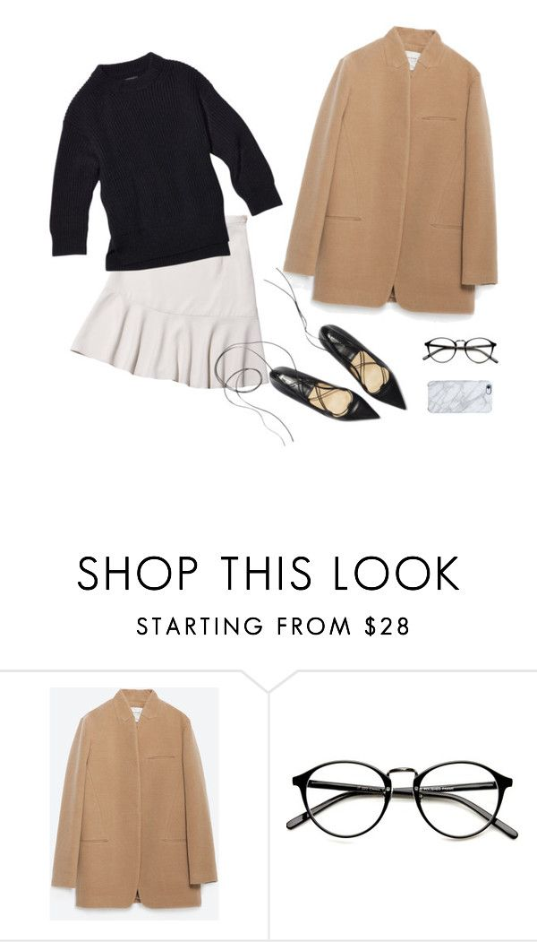 """""""uniform 001"""" by malenam ❤ liked on Polyvore featuring Zara and Uncommon"""