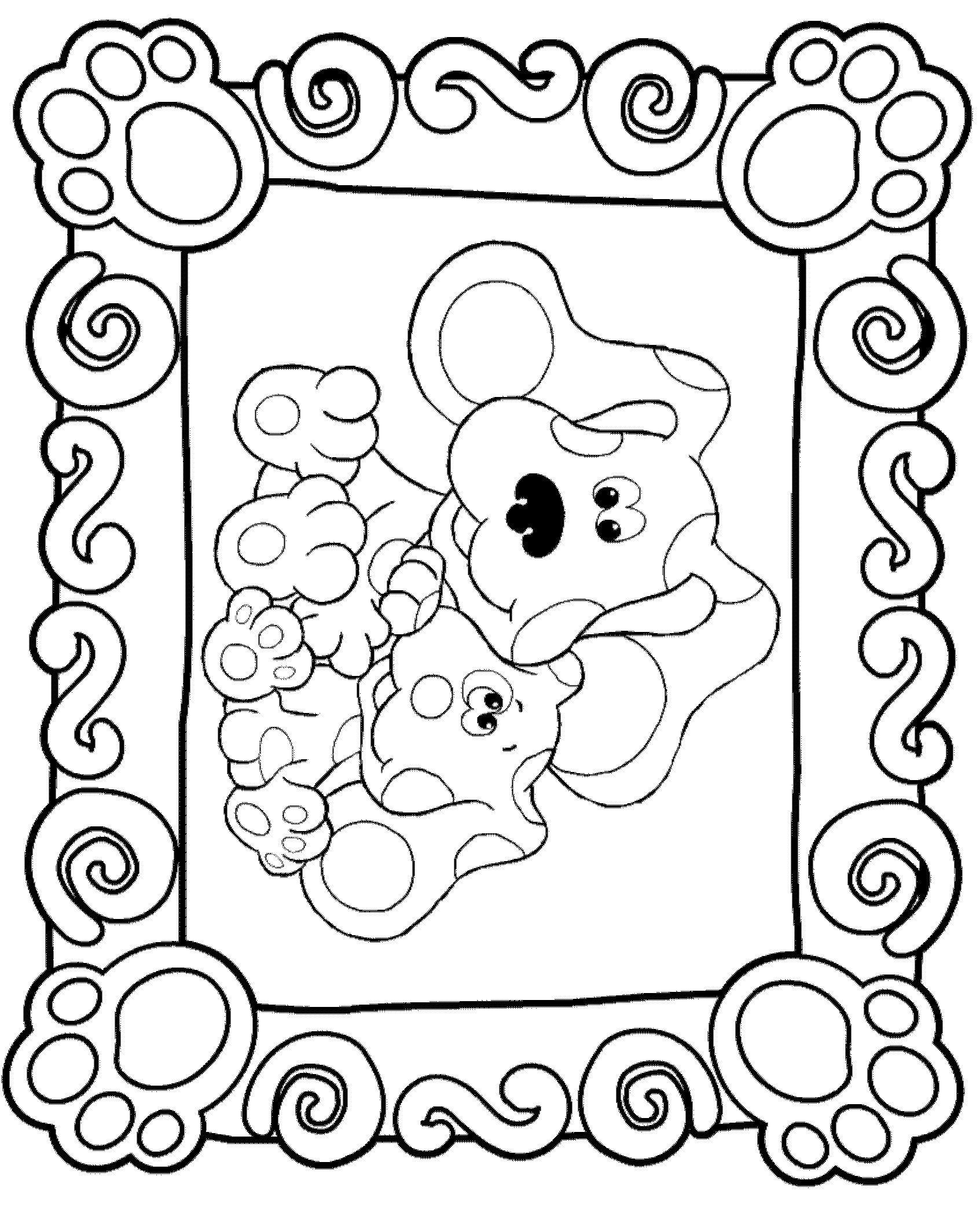 Kids N Fun Kleurplaat Blues Clues Blue S Clues Birthday Coloring Pages Nick Jr Coloring Pages Blues Clues