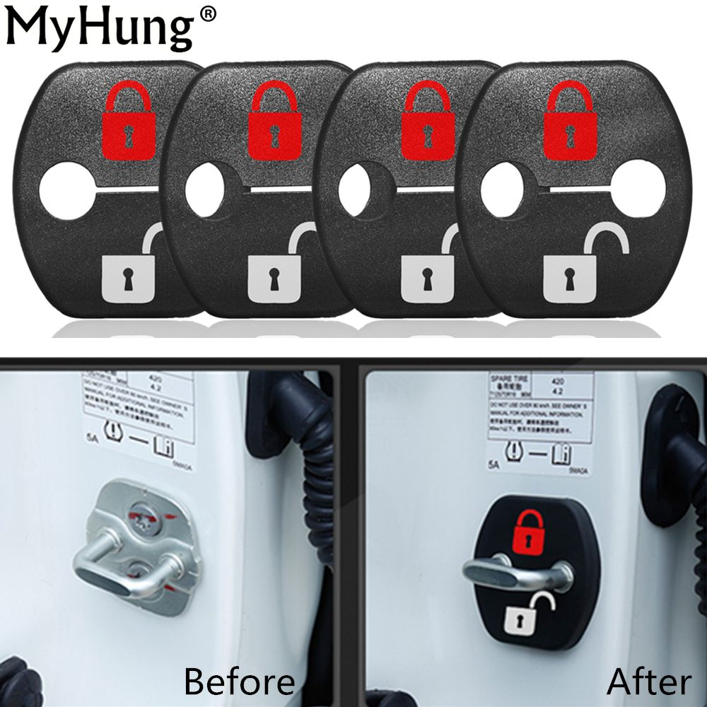Car Door Lock Cover Protection Diy Lock Design Sticker For Nissan X Trail Qashqai Sunny Tiida Livina Teana Koleos M Diy Lock Car Door Lock Interior Accessories [ 1000 x 1000 Pixel ]