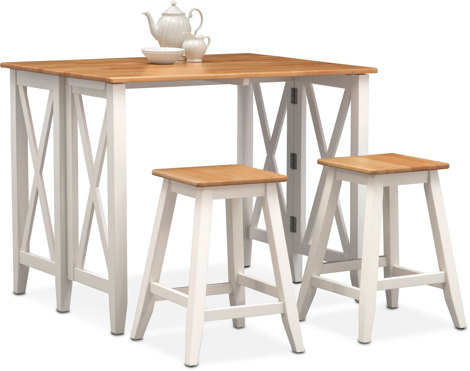 Nantucket Breakfast Bar And 2 Counter Height Stools Counter Height Stools Breakfast Bar Stools Value City Furniture