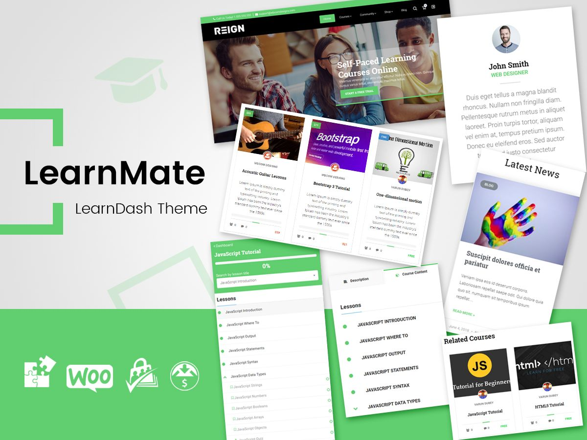 LearnMate LearnDash Theme Education, Online learning