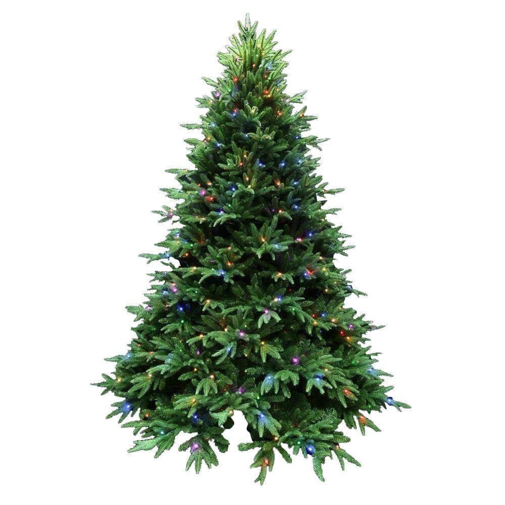 Santa\'s Best 7.5 ft. Indoor Pre-Lit LED Splendor Spruce Artificial ...