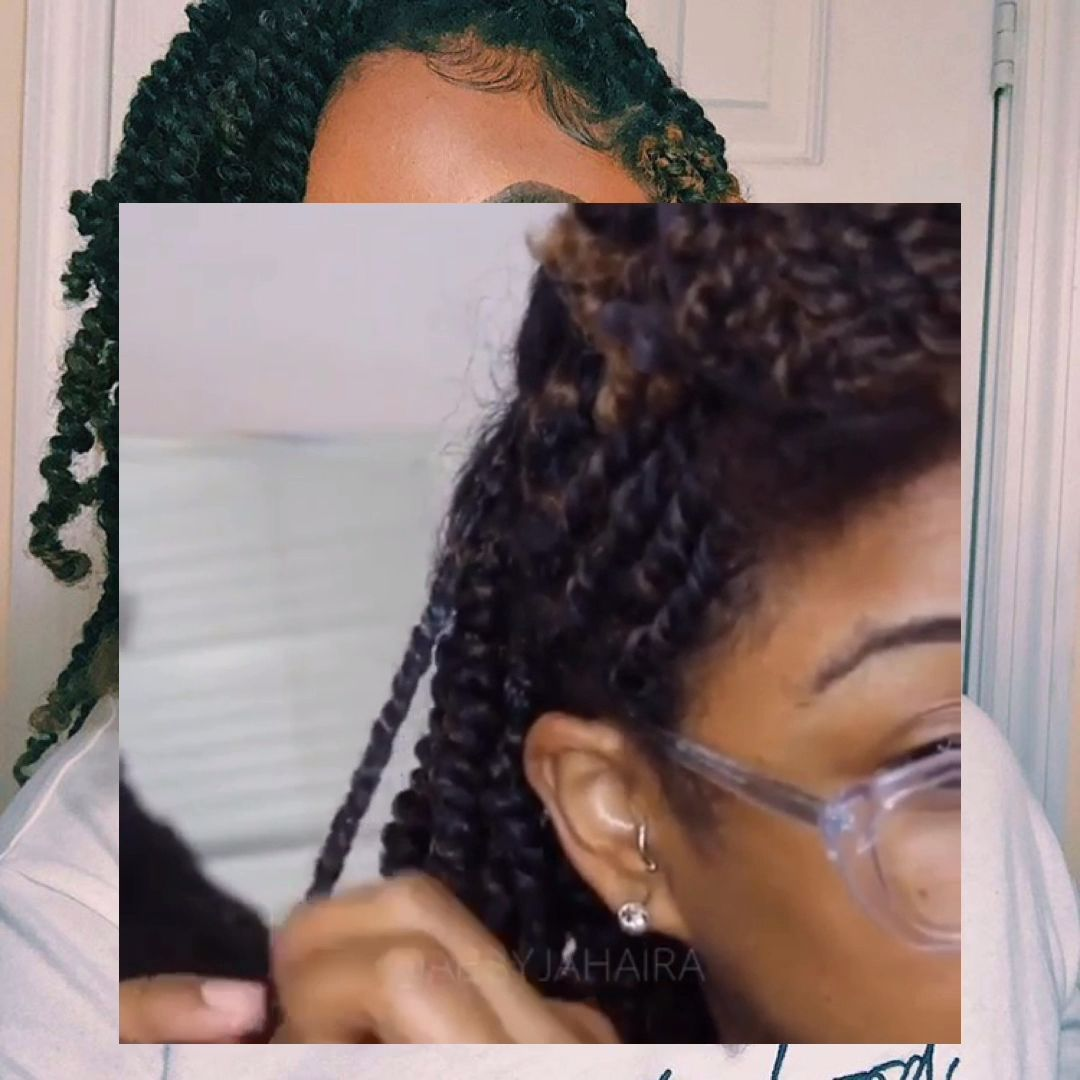 JUMBO BOX BRAIDS TUTORIAL | RUBBER BAND METHOD + DIY WHIPPED SHEA BUTTER... #updosforboxbraids #rubberbandboxbraids # afro Braids tutorial