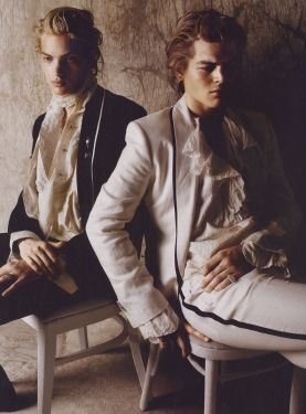 Taxonomy: Longhaired pale skinny white guys.  Two dreamy aesthetes if I were in the late 1700s.