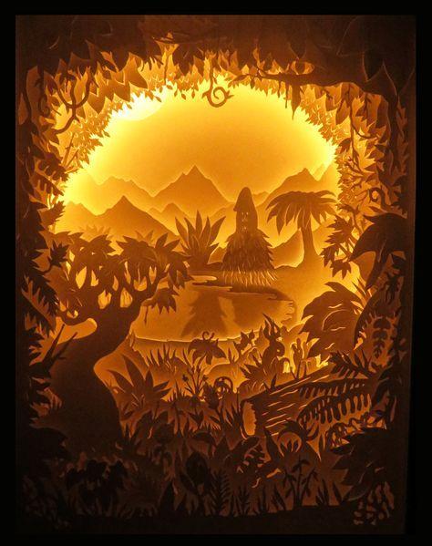 Papier d coup carta 3d carta e diorama for Imitazioni lampade design