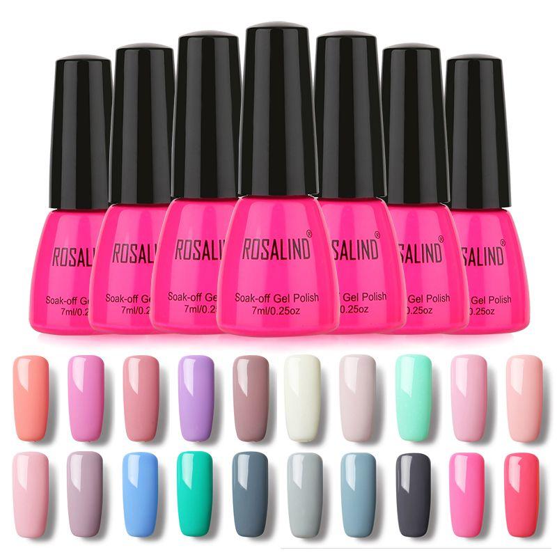 Rosalind 90 colores de esmalte de uñas de gel polaco ultravioleta ...