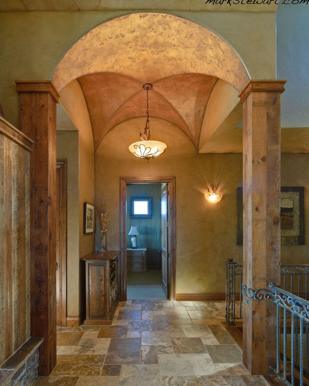 Mark Stewart Home Design Plan M-3250. Beautifully lit groin vault ...