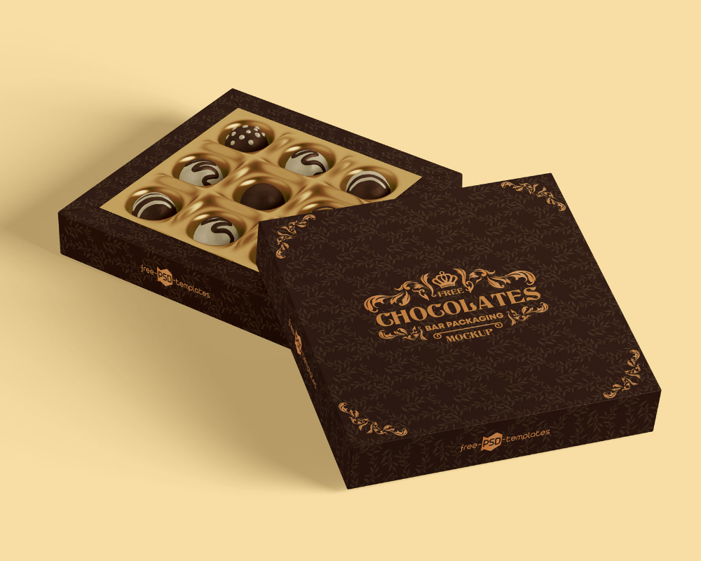 Download Free Luxury Chocolate Packaging Gift Box Mockup Free Package Mockups In 2021 Free Packaging Mockup Chocolate Packaging Box Mockup