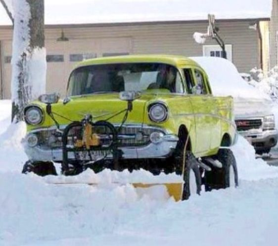 Lifted Muscle Car Yes Please: 1957 Chevy Snow Plow