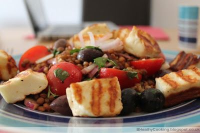 delicious warm lentil and halloumi salad  #montignac #lowcarb