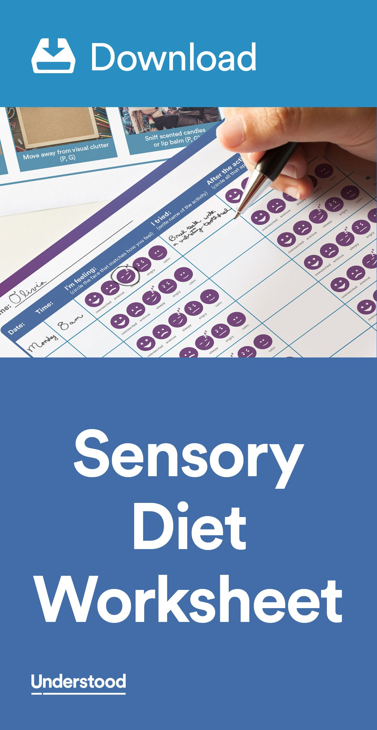 Download Sample Sensory Diet Pinterest Sensory Diet Worksheets