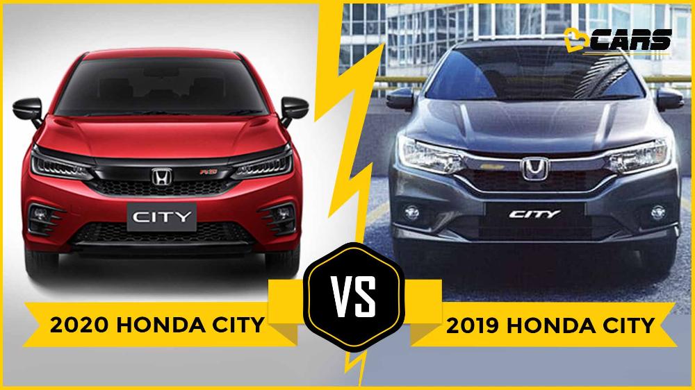 2019 Honda City Vs India Bound 2020 Honda City Old Vs New What S Different Honda City Honda New Engine
