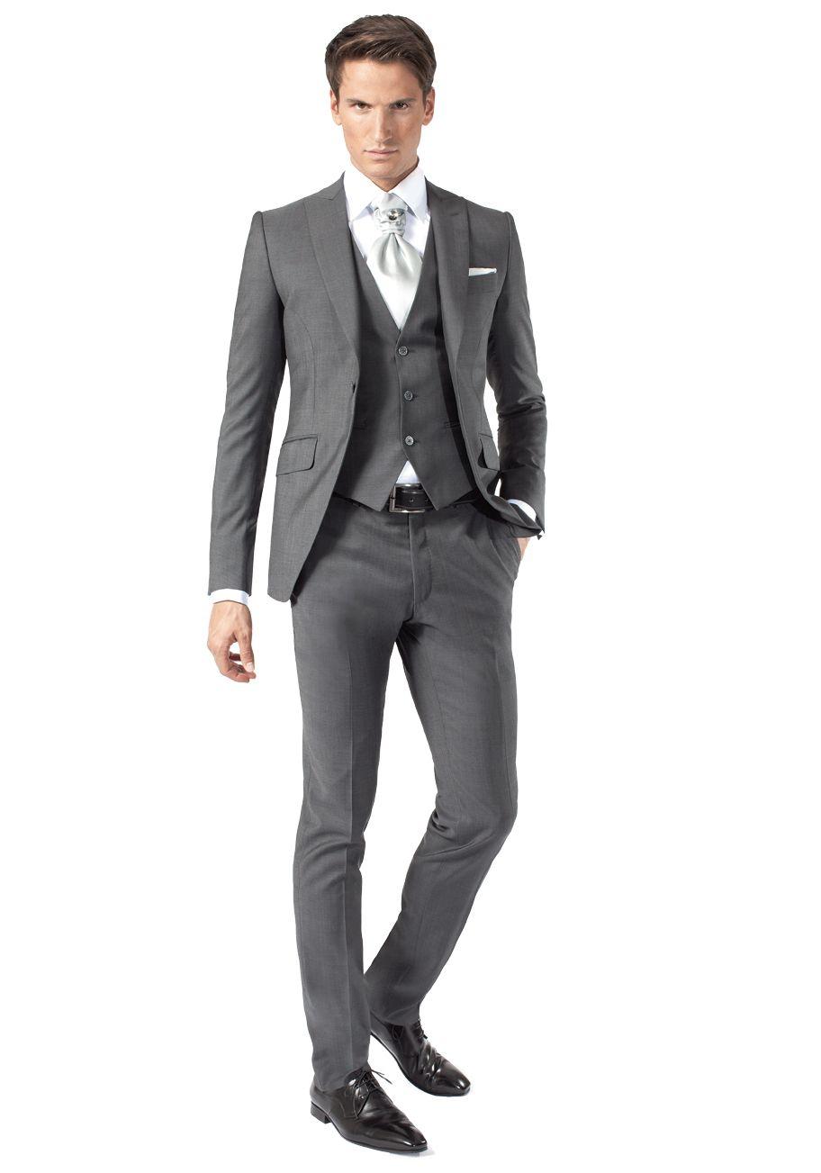 Costume 3 pièces gris moyen   Jean De Sey, costumes de mariage pour homme  et accessoires 7cd89864920f