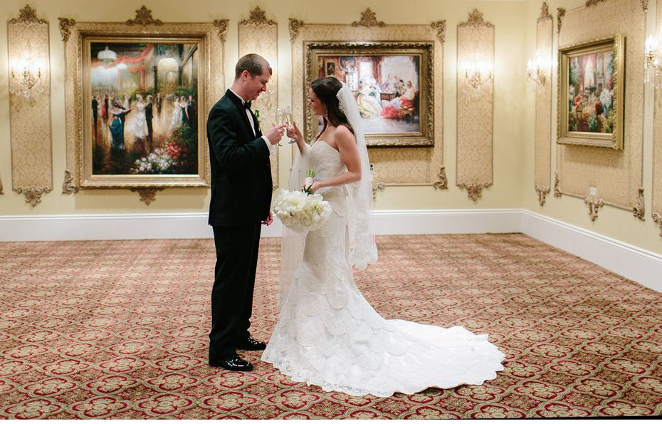 Stephanie And Austin S Gorgeous Reception At Le Pavilion Perfectly Set Off Her Ylf Gown Fantastic New Orleanswedding