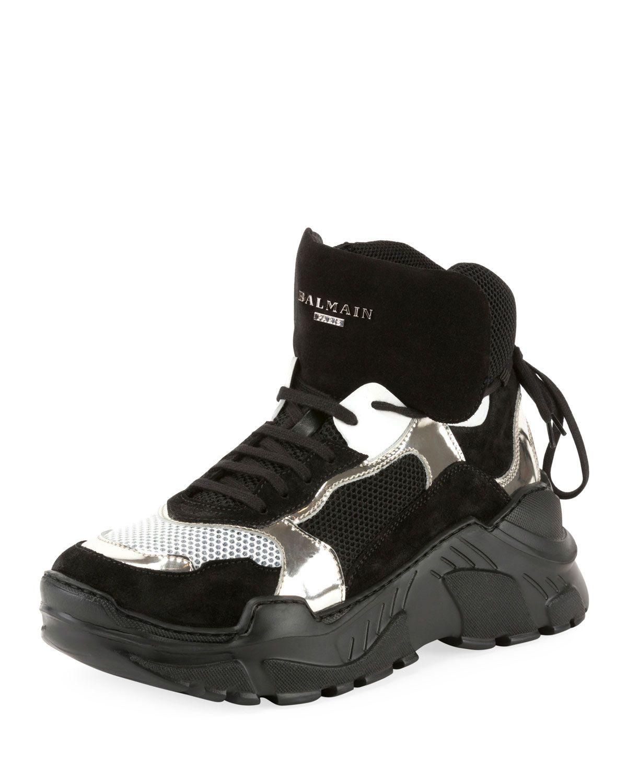 new product e073e ada09 BALMAIN MEN S JOAN HIGH-TOP TECH SNEAKERS.  balmain  shoes