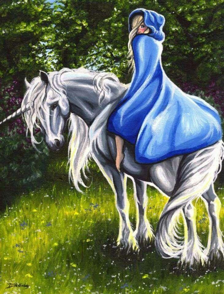 unicorn Girl riding